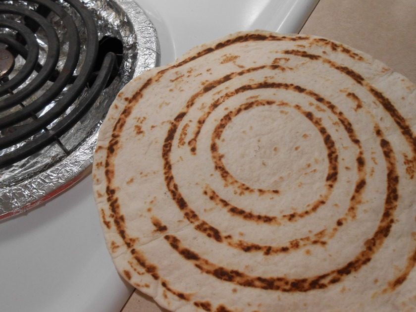 MAKING CHAR MARKS ON TORTILLAS 2