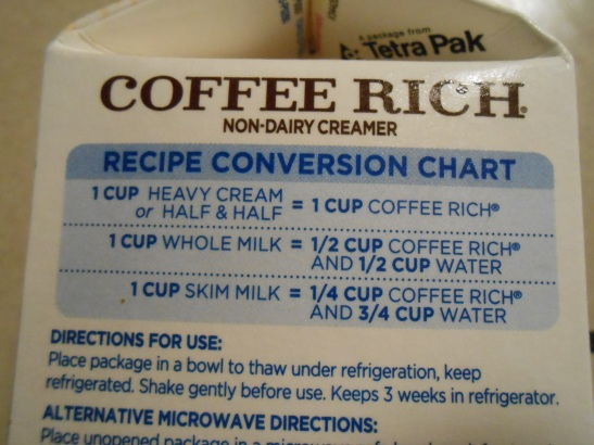 COFFEE RICH CONVERSION CHART 2