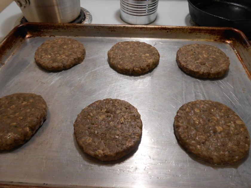 ORIGINAL ANIMAL-FREE BURGERS PATTIES COOKED PAN