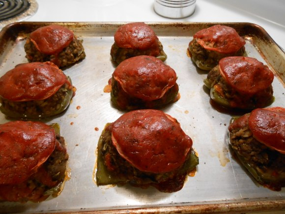 TOP SHELF STUFFED PEPPERS BAKED ON PAN
