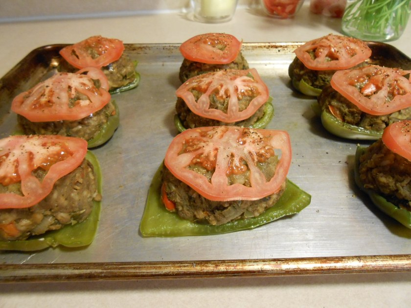 TOP SHELF STUFFED PEPPERS ON PAN 2