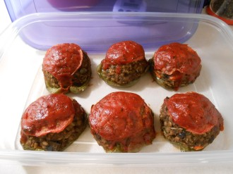 TOP SHELF STUFFED PEPPERS PLASTIC CONTAINER