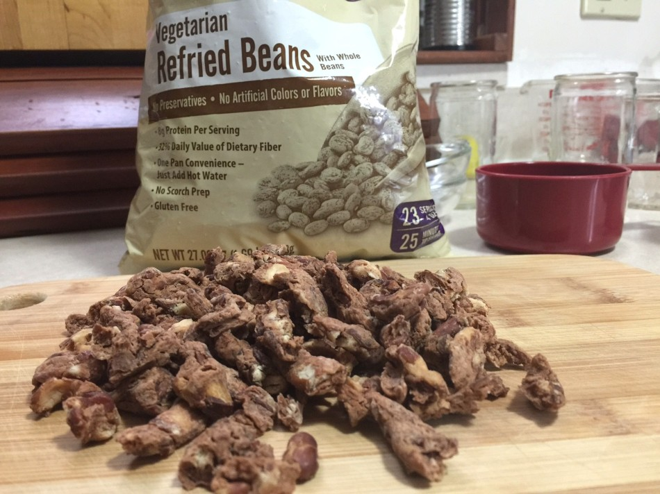 SANTIAGO DRIED REFRIED BEANS OUT OF PKG. - Edited