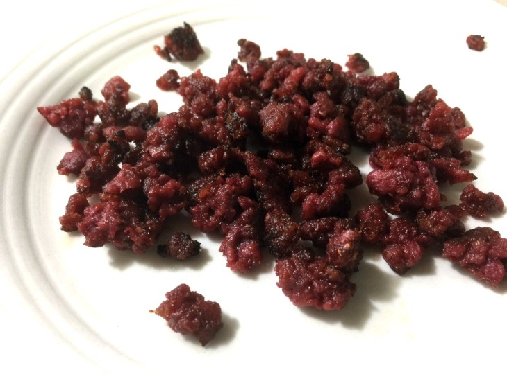 BLOOD RED SAUSAGE CRUMBLES FOR TOPPING