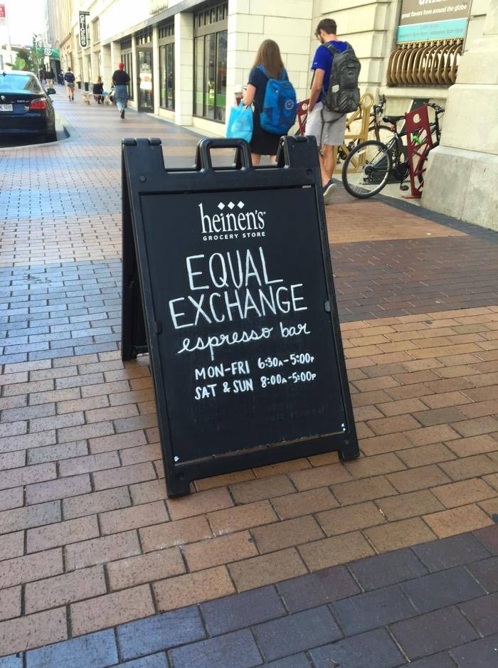 EQUAL EXCHANGE ESPRESSOBAR