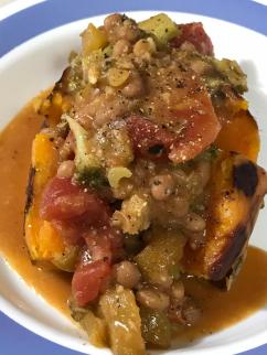 BROCCOLI BAKED BEAN OVER SWEET POTATO 1