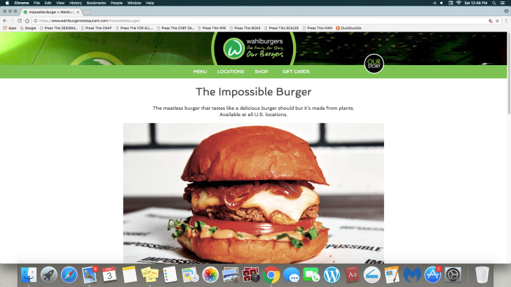 WAHLBURGERS IMPOSSIBLE BURGER
