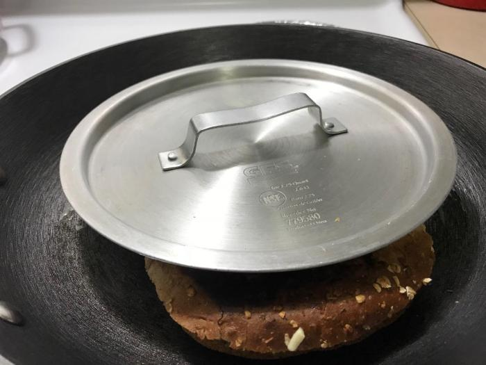 LID TO PAN GRILLED CHEESE MELT 1