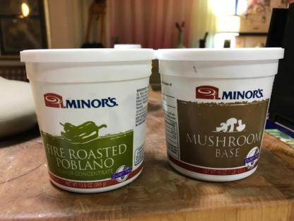 MINOR'S FLAVOR CONCENTRATES poblano and mushroom